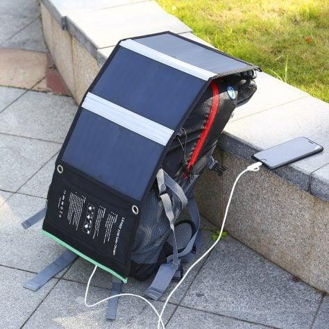 cargador solar mochila