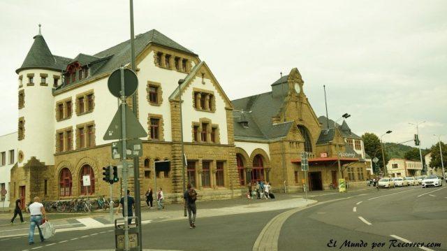 Eisenach Alemania castillo de Wartburg estacion de trenes