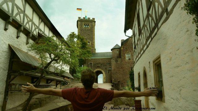 Eisenach Alemania castillo de Wartburg patio principal