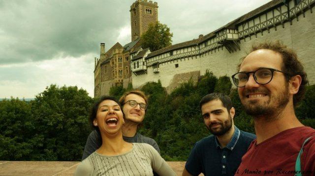 Eisenach Alemania castillo de Wartburg todos felicidad