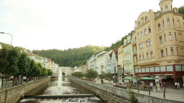 Karlovy Vary Republica Checa Carlsbad vistas rio
