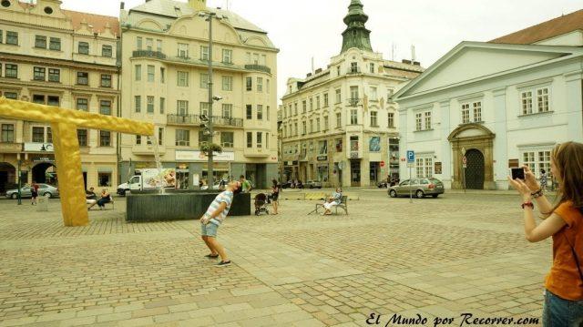 Republica checa pilsen fuente plaza del mercado