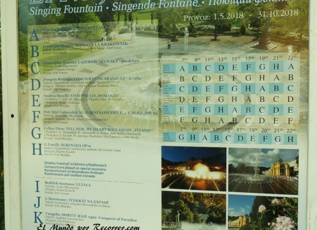 marianske lazne pueblo spa republica checa horario singuing fountain