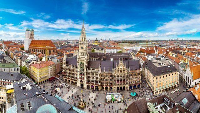 Munich alemania marienplatz