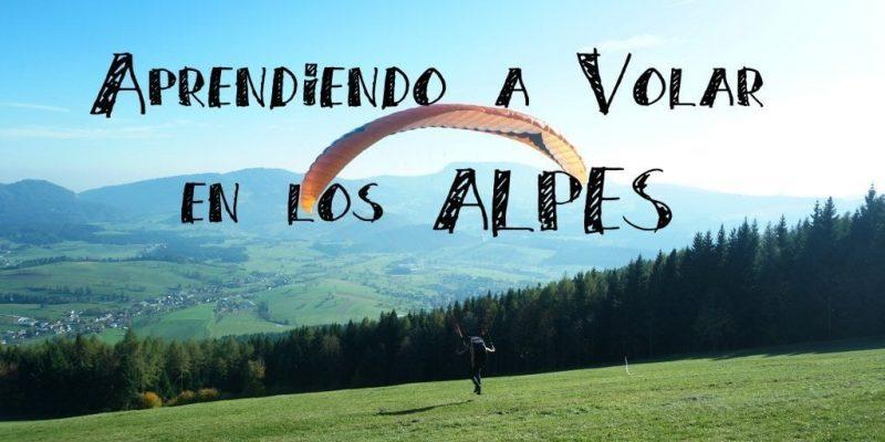 aprendiendo a volar en los alpes austria