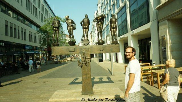 leipzig calles centro alemania