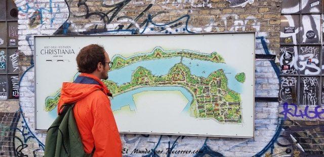 viajar copenhague dinamarca mapa christiania
