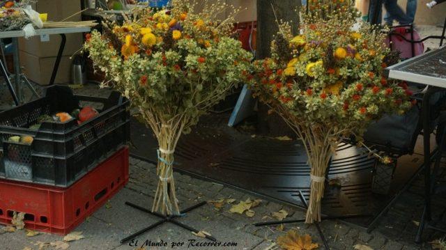 Zwiebelmarkt weimar Alemania la fiesta de la cebolla flores