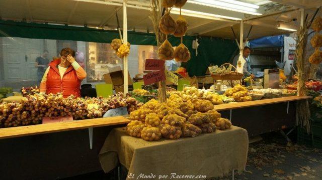 Zwiebelmarkt weimar Alemania la fiesta de la cebolla mercado