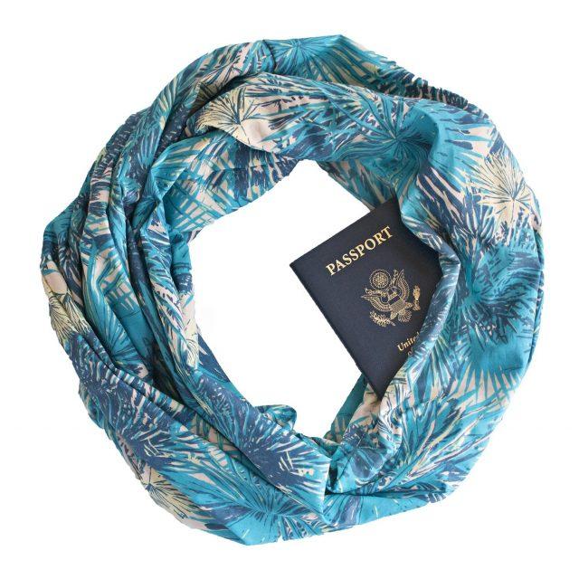 bolsillo secreto bufanda viajar