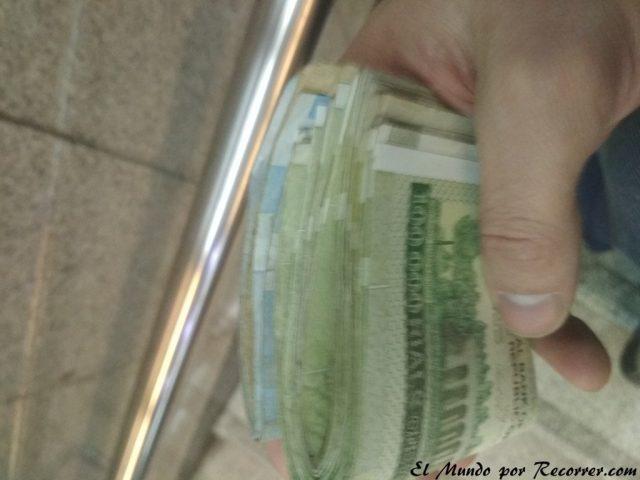 billetes iran rials sacar del cajero
