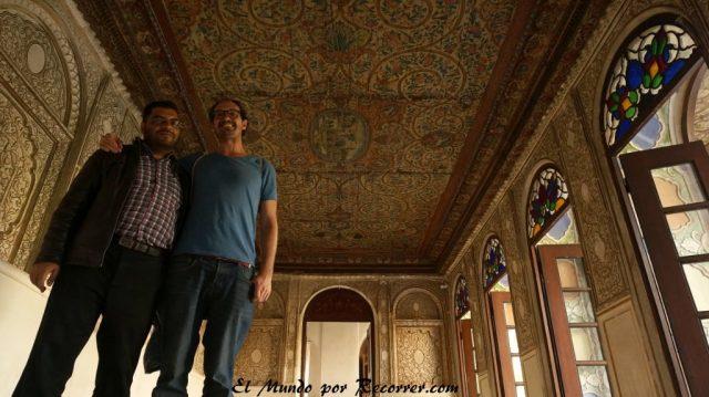 farsi museum sala con frescos sobre madera