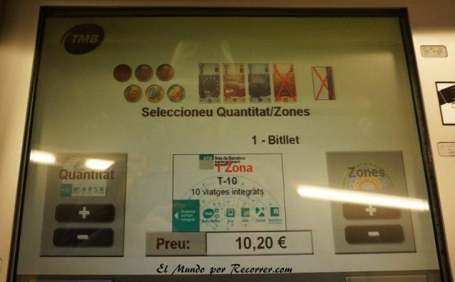 viajar por Barcelona España metro t