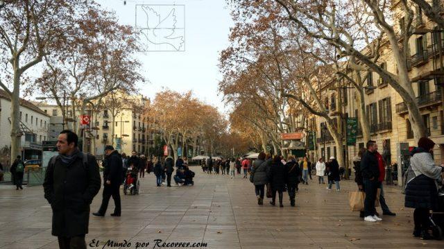 viajar por Barcelona España ramblas