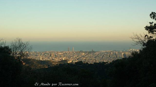 viajar por Barcelona España vistas desde el tibidabo