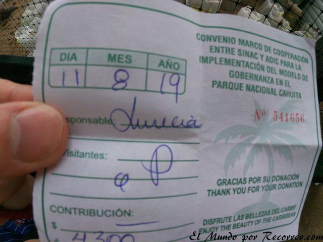 Viajar a Puerto Viejo Costa Rica en limon entrada parque cahuita