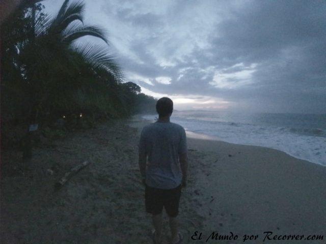 Punta uva playa en costa rica caribe