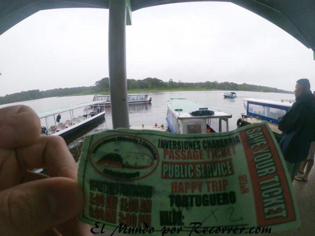 Tortuguero costa rica ticket barco