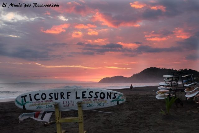 Jaco costa rica playa sunset