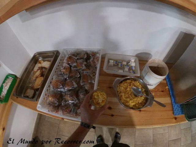 Monte Perdido Ordesa desayuno refugio de goriz