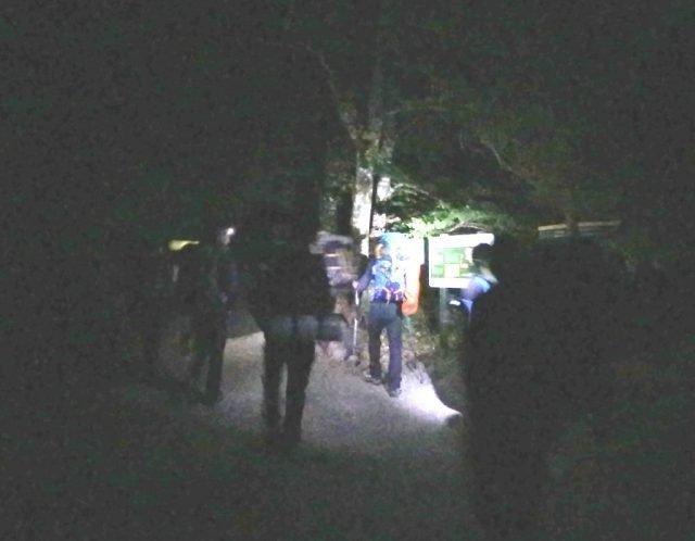 Monte Perdido Ordesa noche inicio ruta