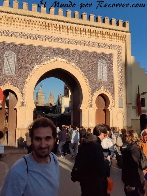 Fez Marruecos viajar blue gate