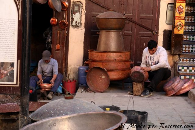 Fez Marruecos viajar bronce