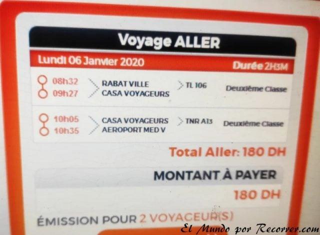 Rabat Marocco ruta aeropuerto casablanca