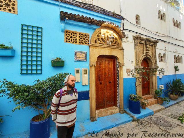 Rabat marruecos ciudad azul en la kasbah de los udayas