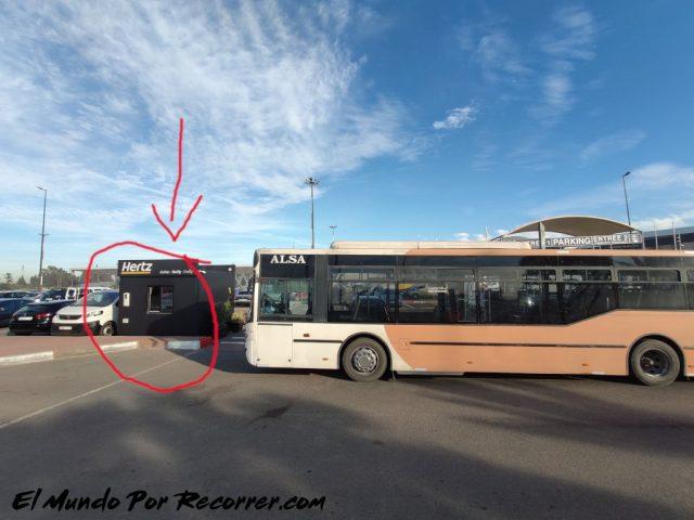 marrakech marruecos bus aeropuerto parada