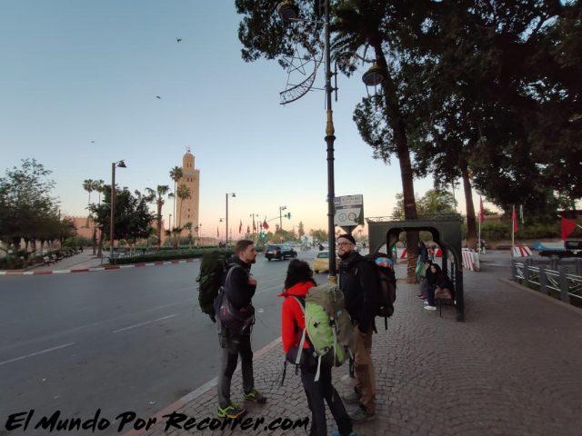 marrakech marruecos parada bus aeropuerto