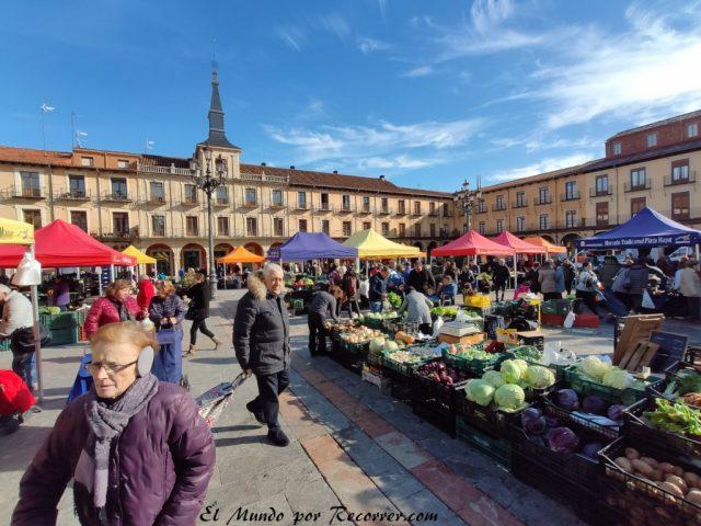 viajar por Leon españa mercado de verduras