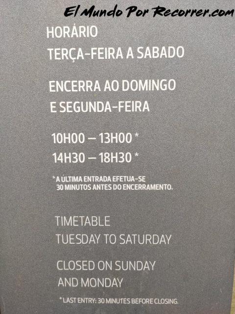 Braga Portugal horario raia palacio
