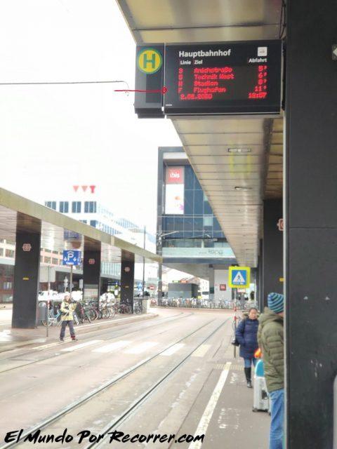 Innsbruck austria bus to airport anden am hauptbahnhof