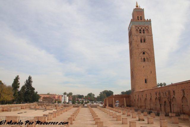 marrakech marruecos mezquita con minarete