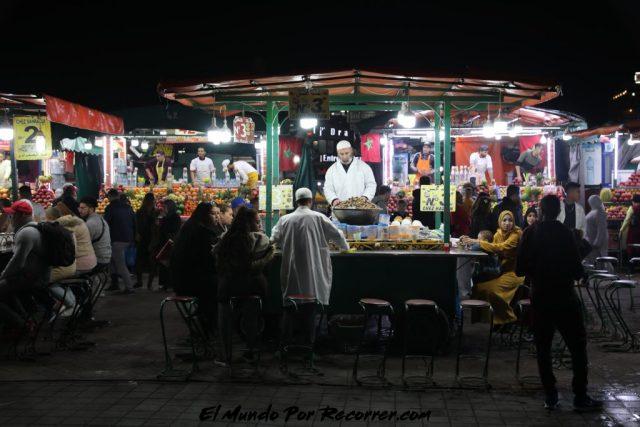 marrakech marruecos puestos comida