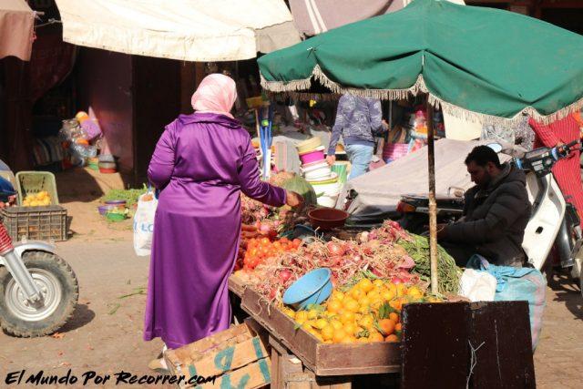 marrakech marruecos puestos de fruta