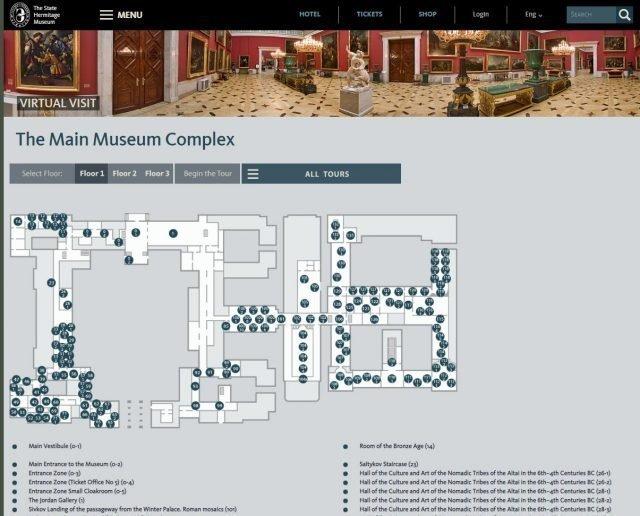hermitage museum tour virtual